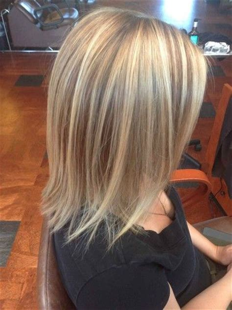 medium length hairstyles with lowlights highlights and lowlights on medium length hair
