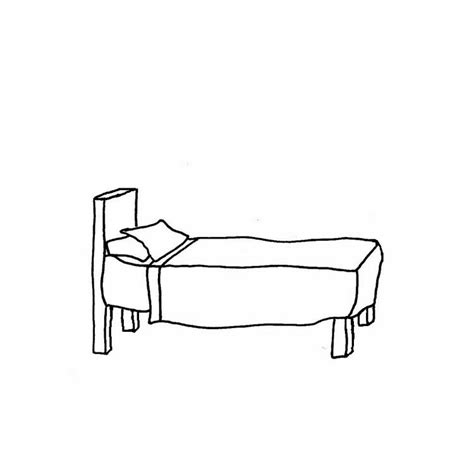 black and white bed black and white bedroom clipart
