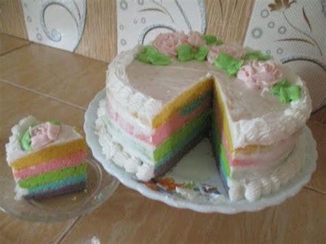 youtube membuat kue tart resep dan cara membuat kue tart rainbow cantik dafa