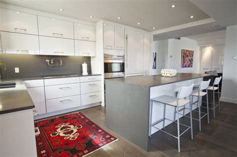 Before And After Oak Cabinets Minimalist Kitchen Eclectic Kitchen Toronto By