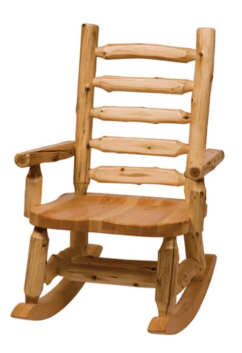 rocking chair home fixtures rocking chair with log backrest