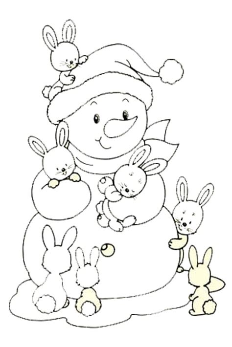 baby snowman coloring page color in a bunny coloring page in stead of buying some pets