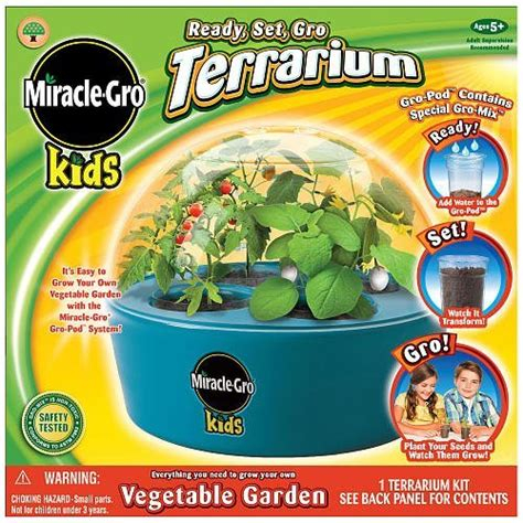 Amazon Com Miracle Gro Ready Set Go Terrarium For Kids Gifts For Vegetable Gardeners