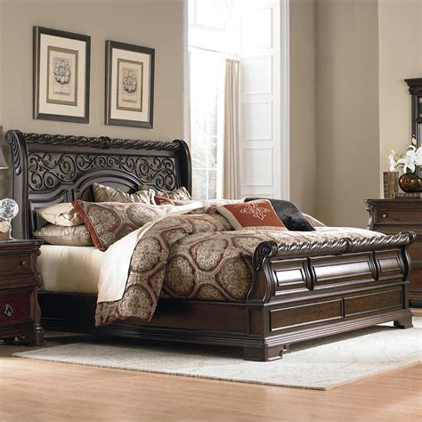 sleigh bedroom set king liberty furniture arbor place 575 br ksl king traditional