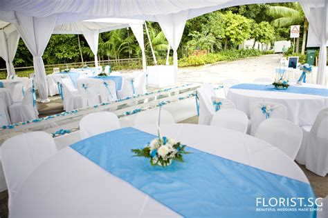 blue wedding theme labrador park of national park board florist sg