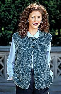 knitting pattern simple vest ravelry garter yoke vest pattern by lion brand yarn