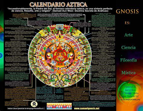 Calendario Azteca Pdf Poster Simbolismo Calendario Azteca Simbolismo
