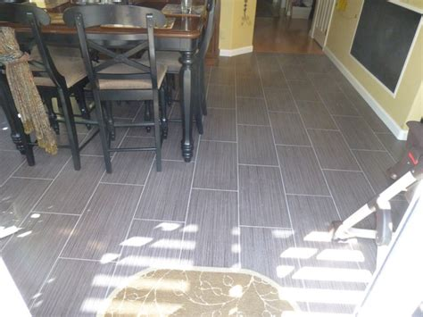 Dining Room Chairs San Diego by 12 Quot X 24 Quot Porcelain Tile Flooring Running Bond Pattern