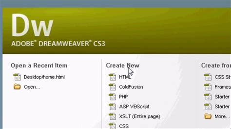 tutorial website using dreamweaver adobe dreamweaver introduction tutorial how to make a