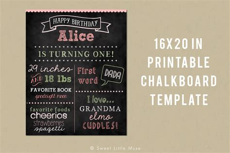 printable chalkboard template card templates on creative