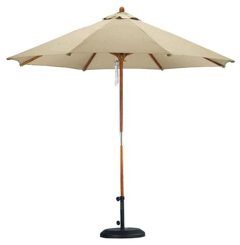 9' Market Umbrella in Antique Beige for Outdoor Use