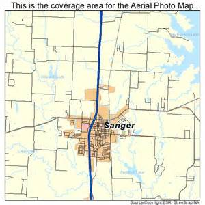 map of sanger aerial photography map of sanger tx