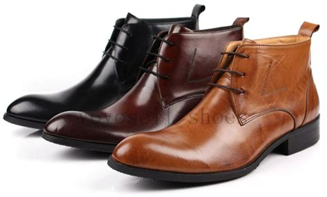 large size fashion brown black brown mens ankle boots