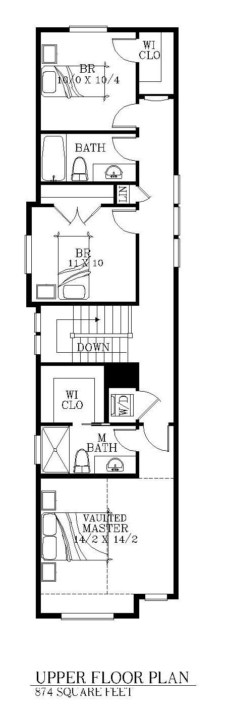 wide lot floor plans 15 foot wide house 2 levels floorplans pinterest