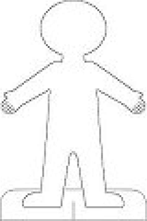 doll cut out template 8 best images of printable cut out person person cut out