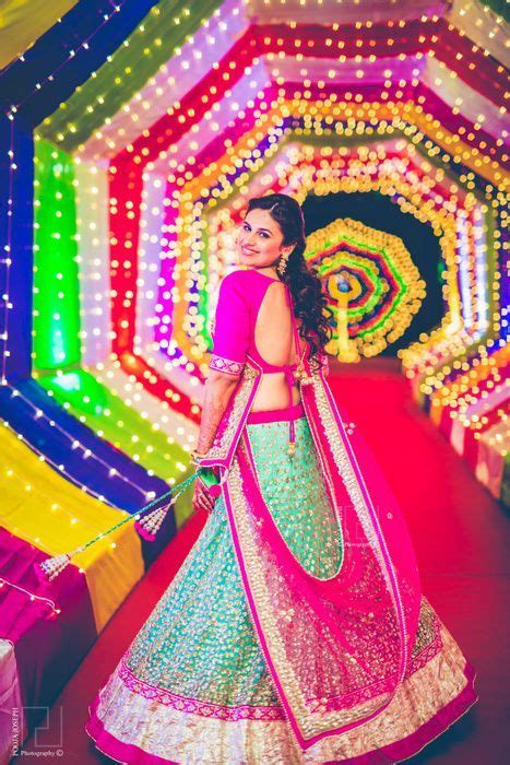 light blue and pink lehenga with silver sequin embroidery