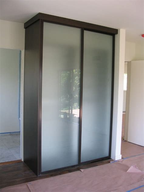 Free Standing Closet With Doors with Free Standing Closet Acid Etched Wardrobe Doors Contemporary Closet Los Angeles By The