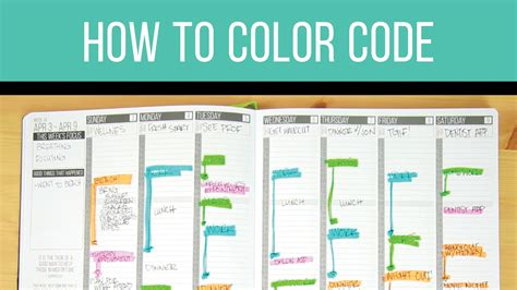 color coding planner planner hacks color coding