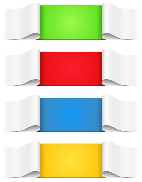 banner design vector file 9 carve banner clip art for logo design psd images red