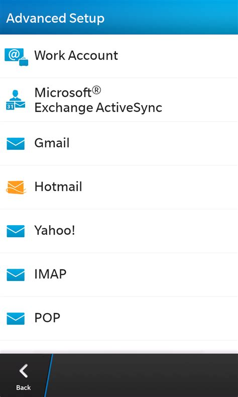reset blackberry email settings setting up email for exchange for blackberry 10 devices