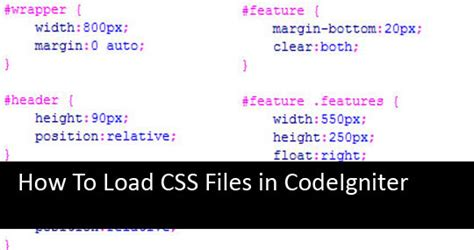 codeigniter code sles how to load css files in codeigniter sitefixit com