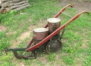 antique cole manufacturing co corn planter