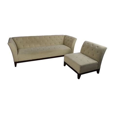 63 Off Macy S Macy S Tufted Sofa With Modular Chaise