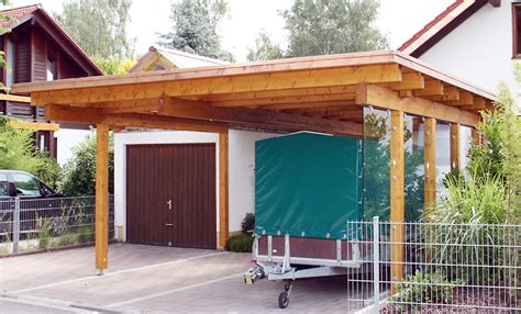 Terrasse Am Haus Anbauen by Carport Holzkonstruktion Carport Mit Flachdach Formpost Co