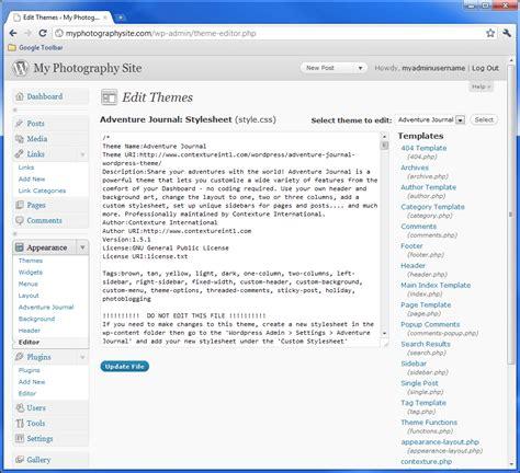 wordpress theme maker mac how to create a photography blog part 4