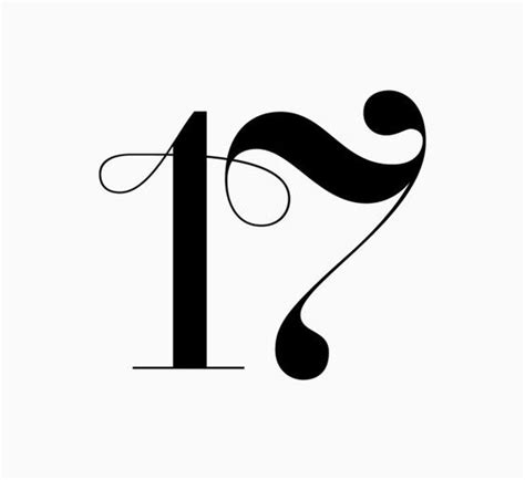 number 17 tattoo designs lucky number 17 t y p o g r a p h y
