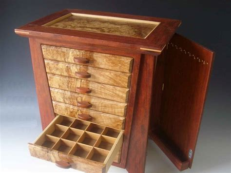 Handmade Wood Jewelry Box - wood jewelry box of woods from around the world