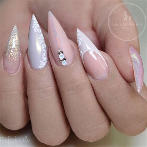 beautiful glitter nail art design for elegant nail 27 beautiful stiletto nails ideas naildesignsjournal com