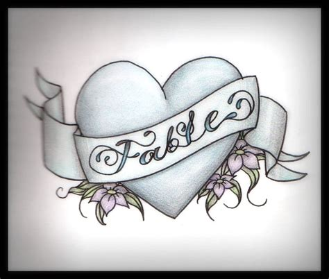 heart tattoos designs with names name banner design tattooshunt