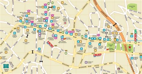 orchard mall map about singapore city mrt tourism map and holidays location map of orchard road singapore