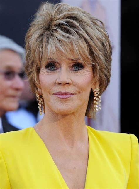 layer cuts for 60 jane fonda short layered razor hairstyle for women over 60