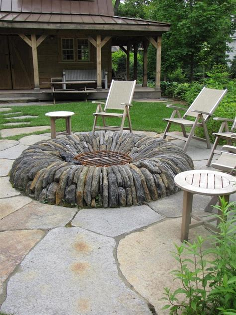 Backyard Fire Pit Ideas With Simple Design Backyard With Firepit