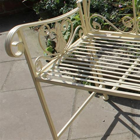 metal garden bench uk cream metal vintage style garden bench seat home rustic