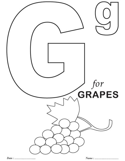 printables alphabet g coloring sheets download free