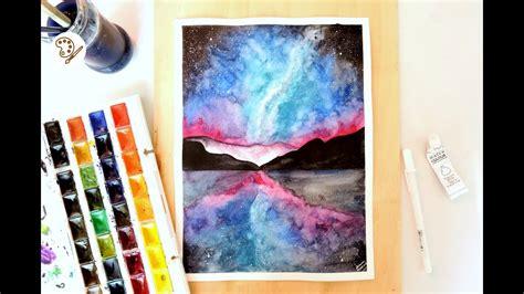 dibujos para pintar con acuarelas dibujo tumblr galaxia monta 209 as y mar con acuarelas