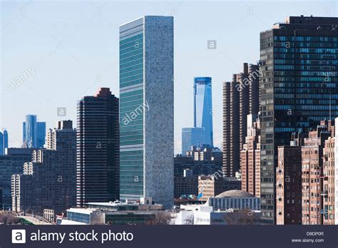 United Nations New York Mba by United Nations Building In New York City Stock Photo