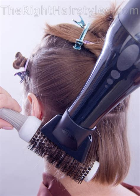 how to section your hair for blow drying how to a line hairstyle with face framing locks for short
