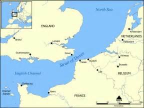 strait map strait of dover