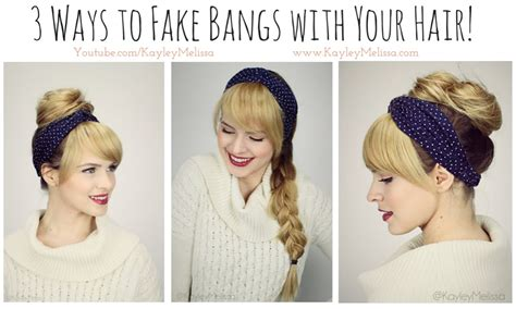 find a hairstyle using your own picture 3 ways to fake bangs with your hair youtube