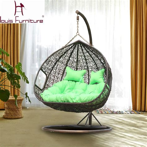 hanging basket chair swing cany chair for garden double chairs rattan sofa