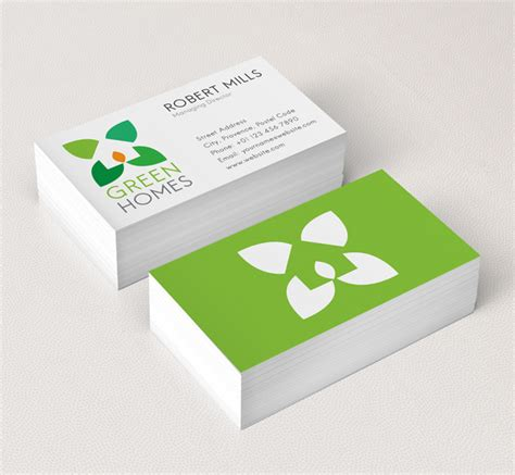 green home design logo template the design