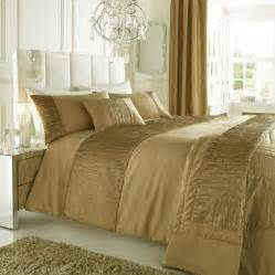 Faux Mink Comforter Set Gold Colour Stylish Textured Faux Silk Duvet Cover Luxury