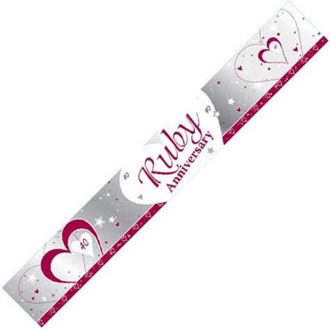 Ruby Wedding Banner by Ruby Anniversary Foil Banner Savvy