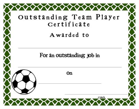 soccer certificate templates for word awesome word certificate