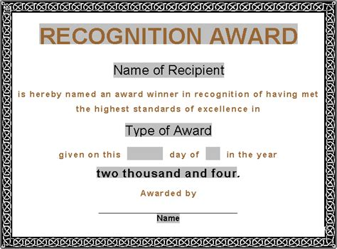 awards certificates templates for word award certificates award certificate gift certificate