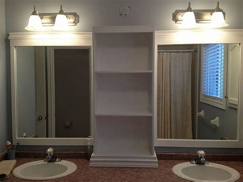 Large Framed Mirrors For Bathroom Large Bathroom Mirror Redo To Framed Mirrors And Cabinet